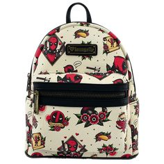 Marvel - Deadpool - Tattoo Deadpool Loungefly Mini Backpack - ZiNG Pop  Culture Marvel Backpack, 127a01545e