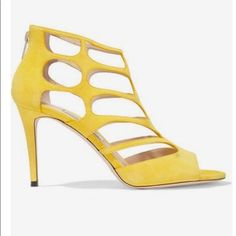 22c7890f5fe Authentic Yellow Jimmy Choo Suede Sandal Yellow Shoes