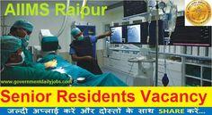 AIIMS Raipur Recruitment | 80 Senior Resident Post Apply