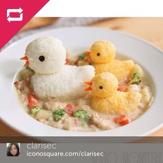 #duck #rice food art by Clarise Choi