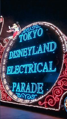 Tokyo Disneyland Electrical Parade Tokyo Disneyland, Travel Aesthetic, Travel Destinations, Neon Signs, Disney Princess, Fairies, Fun, Road Trip Destinations, Faeries
