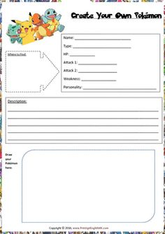 Quick fun worksheet to catch your students attention and interest, and to explore their creativity.