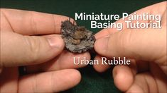 In this miniature painting tutorial video we'll be destroying the city to create some urban rubble beneath your mini. This miniature painting technique is ju. Modeling Techniques, Modeling Tips, Painting Tips, Painting Techniques, Miniature Bases, Figure Model, Warhammer 40k, Craft Tutorials, Minis