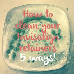 How to Clean Your Invisalign retainers {5 ways} Build-up on Invisalign trays and retainers can definitely happen quickly if you are not cleaning them correctly. Here are 5 ways to keep them shiny and bright!