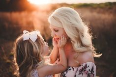 Mommy and me photography / mother and daughter / mom and little girl / sunset / cherrybird photography