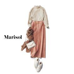 Japanese Wife, Spring Fashion, Midi Skirt, Khaki Style, Beige, Skirts, Yahoo, How To Wear, Pants