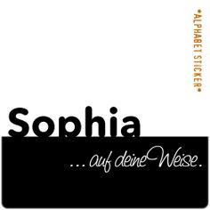 www.aufdeineweise.de · SOPHIA – SCRAPBOOKING ALPHABET STICKERS · Made in Germany · Format / Konzept: KLASSIK.