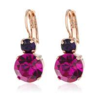 Mariana Fuchsia Drop Crystal Earrings 18ct RGP