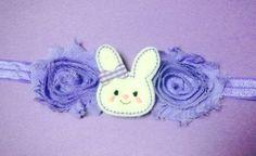 Purple Easter Felt Bow Bunny Headband by BrittsBeautyBoutique, $8.00