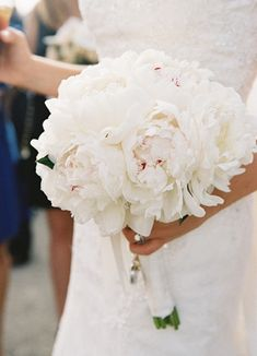 Bride's Peony Bouquet // Photo: Braedon Flynn Photography // Feature: The Knot
