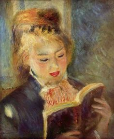 off Hand made oil painting reproduction of The Reader Aka Young Woman Reading A Book, one of the most famous paintings by Pierre Auguste Renoir. Pierre Auguste Renoir began painting The Reader – also known as Young Woman Reading A Book &nda. Pierre Auguste Renoir, Jean Renoir, Renoir Paintings, Impressionist Paintings, Oil Paintings, Reading Art, Woman Reading, Reading Books, Reading Club