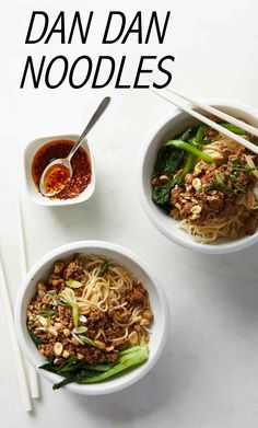 Dan Dan Noodles | Martha Stewart Living - Making chili oil from scratch is easy and adds a delicious complex flavor to this dish, but you can use regular hot chili oil instead in a pinch.