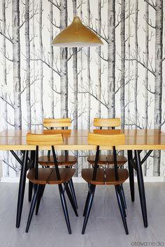 Pirkka table & chairs by Ilmari Tapiovaara