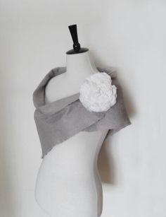 Wedding Shawl Bridal Wraps Shrugs Silver Grey by softadditions