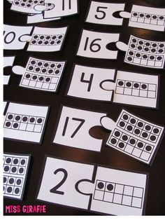 Ten Frame Puzzles make a great math station activity - Building Number Sense in First Grade