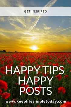 Happy tips happy posts