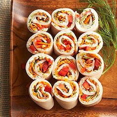Turkey -Vegetable roll; swap cream cheese with hummus
