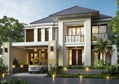 Jasa Arsitek Sukoharjo Jawa Tengah Desain Rumah Bapak Hence Dream House Exterior, Exterior House Colors, Dream House Plans, Exterior Design, Exterior Doors, House Front Design, Modern House Design, Door Design, Facade House