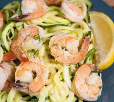 This zoodle shrimp scampi can be made in less than 30 minutes, making it a perfect healthy, weeknight meal!