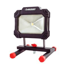 Husky Portable LED Work Light is designed for indoor and outdoor use. Durable, long lasting and super bright LED for added durability. Led Work Light, Work Lights, 2000 Ford Excursion, Portable Workbench, Bathroom Vanity Units, Big Battery, Metal Bar Stools, Electrical Tools, Electronic Recycling