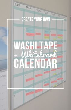 Best diy for teens organizing washi tape 40 Ideas El mejor diy para adolescentes organizando w Diy Whiteboard, Whiteboard Planner, Whiteboard Ideas Bedroom, Classroom Whiteboard Organization, Classroom Calendar, Diy Calendar, Wall Calendars, Diy Washi Tape Calendar, Bedroom Decor
