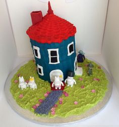 Moomin House Cake I made for my daughters birthday.