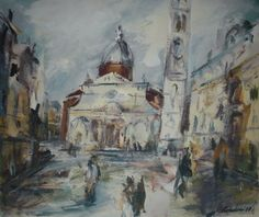 "Saatchi Art Artist Manlio Rondoni; Painting, ""Venezia Campo S.Maria Formosa 1997"" #art"