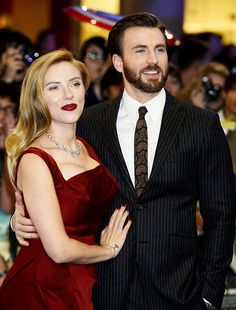 """""""She's like my sister. I've known her for 10 years. She's just one of the smartest people I know. It's great when someone with a razor-sharp intellect wants to have fun."""" - Chris Evans about Scarlett Johansson"""