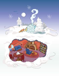 My cozy winter time drawing.  -Achoitz on Behance