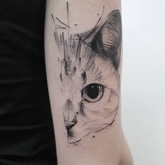 In this post, you get different cat tattoo ideas. So here are some cool Cay Eye Tattoo Designs which you definitely loved. Trendy Tattoos, Love Tattoos, Beautiful Tattoos, New Tattoos, Body Art Tattoos, Tatoos, Watch Tattoos, Cat Face Tattoos, Animal Tattoos
