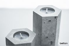 Our concrete candlesticks are great design accessories that will brighten your interior. Each piece is original and handmade. If you have any questions, please do not hesitate to contact me. Concrete Candle Holders, Candlesticks, Table Decorations, The Originals, Interior, Handmade, Accessories, Design, Home Decor