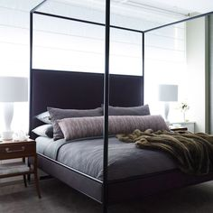 "KEEP IT SIMPLE - ""I like to dress my bed simply so it's manageable. I think the best way to start your day is by making your bed. It's a way to honor yourself and give yourself a sense of ritual, and there is nothing like getting into a made bed at the end of the day,"" says Jon Call of Mr Call Designs. Mr Call Designs. ""Your bed is your refuge. You can't control the world, but you can control your bedroom."""