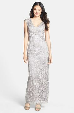 Sue Wong | Embellished Illusion Back Gown -- also comes in Antique Champagne