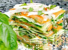 Stunning Salad! Stacked Summer Vegetable Salad www.fooddonelight.com