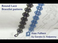 Best Seed Bead Jewelry 2017 Free Bead Patterns and Ideas : Round Lace Bracelet (Redesign) free pattern Free Beading Tutorials, Beading Patterns Free, Seed Bead Patterns, Beaded Jewelry Patterns, Bracelet Patterns, Free Pattern, Weaving Patterns, Lace Bracelet, Seed Bead Bracelets