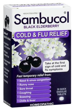 Sambucol Black Elderberry Cold & Flu Relief helps relieve: Nasal & sinus congestion, Runny nose, Sore throat, Coughing, Sneezing, Chills & fever. #BlackElderberry