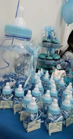 Trendy Baby Shower Ideas For Boys Decorations Food Diaper Cakes Ideas Juegos Baby Shower Niño, Idee Baby Shower, Mesas Para Baby Shower, Baby Shower Photo Booth, Baby Shower Cakes For Boys, Shower Bebe, Baby Shower Decorations For Boys, Baby Shower Party Favors, Baby Shower Centerpieces