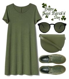 """""""happy St. Patrick's day"""" by j-n-a ❤ liked on Polyvore featuring Kate Spade Saturday, Gap, Spitfire and Puma"""