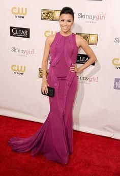 Eva Longoria on the Critics' Choice Awards Red Carpet!