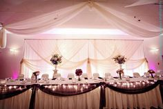 Wedding, Reception, Purple, Table, Head, Backdrop