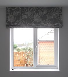 Roman Blind- bedroom I like it hung this high