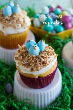 Birds Nest Cupcakes