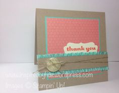 Stampin Up Thank You