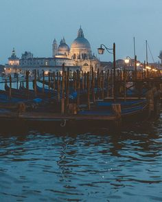venice at night.