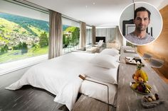 7132 Hotel (@7132hotel) in Vals, Switzerland, for its incredible modern design and beautiful Alpine scenery