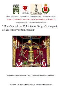 """MedioEvo Weblog: """"Non c'era solo un Volto Santo. Geografia e segreti dei crocifissi vestiti medievali"""""""
