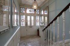 5 bedroom detached house for sale in Trinity Road, London - Rightmove. 1930s House, 5 Bedroom House, Detached House, Property For Sale, Stained Glass, Stairs, Doors, Living Room, London