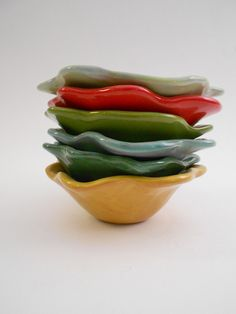 floral form dipping bowls from r.wood studio