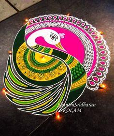 #swan#green#pink#yellow#duck#mandala