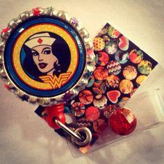 Super Nurse Woman Retractable Id Badge Reel on Etsy, $8.55